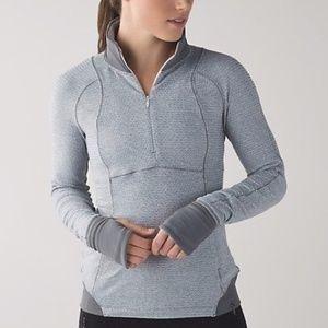 Lululemon Runderful 1/2 Zip Pullover Jacket gray